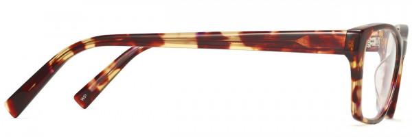 Side View Image of Ashe Eyeglasses Collection, by Warby Parker Brand, in Redbud Tortoise Color