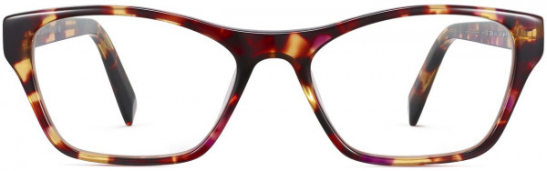 Front View Image of Ashe Eyeglasses Collection, by Warby Parker Brand, in Redbud Tortoise Color