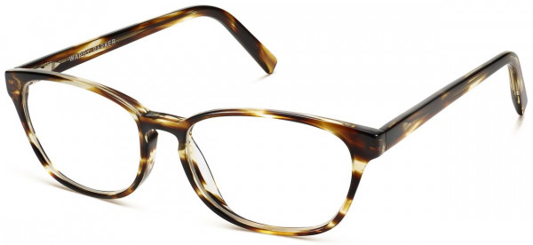 Angle View Image of Clemens Eyeglasses Collection, by Warby Parker Brand, in Striped Sassafras Color