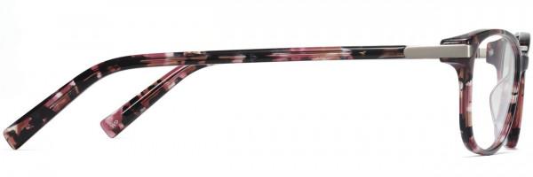 Side View Image of Daisy Eyeglasses Collection, by Warby Parker Brand, in Violet Quartz Crystal with Polished Silver Color