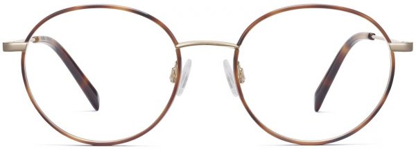 Front View Image of Duncan Eyeglasses Collection, by Warby Parker Brand, in Oak Barrel with Riesling Color