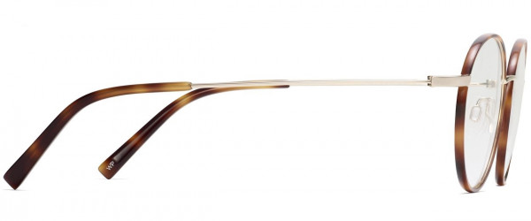 Side View Image of Duncan Eyeglasses Collection, by Warby Parker Brand, in Oak Barrel with Riesling Color