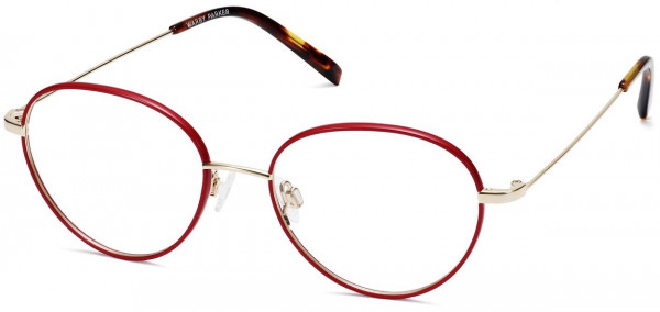 Angle View Image of Arlen Eyeglasses Collection, by Warby Parker Brand, in Wineberry with Riesling Color