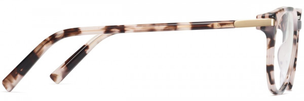 Side View Image of Jane Eyeglasses Collection, by Warby Parker Brand, in Blush Tortoise with Polished Gold Color