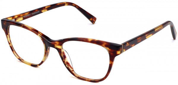 Angle View Image of Amelia Eyeglasses Collection, by Warby Parker Brand, in Root Beer Color