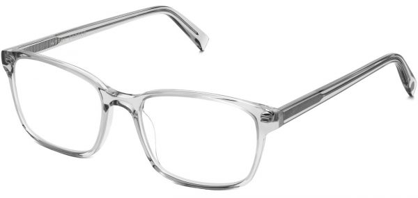 Angle View Image of Brady Eyeglasses Collection, by Warby Parker Brand, in Sea Glass Grey Color