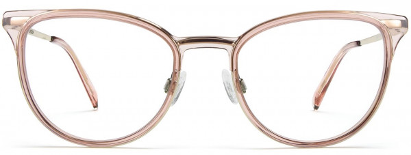 Front View Image of Lindley Eyeglasses Collection, by Warby Parker Brand, in Rose Water with Riesling Color