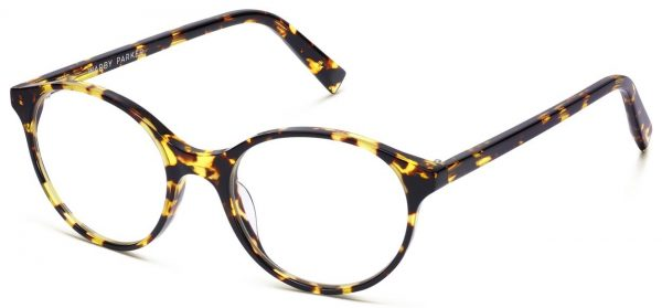 Angle View Image of Farris Eyeglasses Collection, by Warby Parker Brand, in Mesquite Tortoise Color