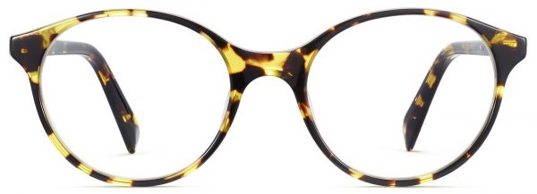 Front View Image of Farris Eyeglasses Collection, by Warby Parker Brand, in Mesquite Tortoise Color