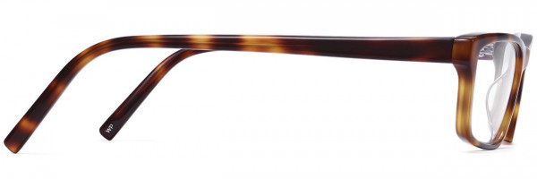Side View Image of Godwin Eyeglasses Collection, by Warby Parker Brand, in Oak Barrel Color