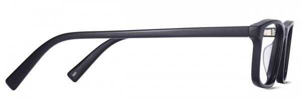 Side View Image of Becton Eyeglasses Collection, by Warby Parker Brand, in Jet Black Matte Color