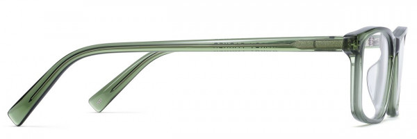 Side View Image of Becton Eyeglasses Collection, by Warby Parker Brand, in Rosemary Crystal Color