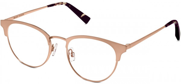 Angle View Image of Blair Eyeglasses Collection, by Warby Parker Brand, in Rose Gold Color