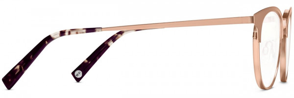 Side View Image of Blair Eyeglasses Collection, by Warby Parker Brand, in Rose Gold Color