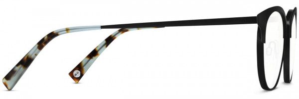 Side View Image of Blair Eyeglasses Collection, by Warby Parker Brand, in Black Ink Color