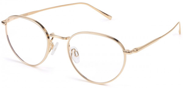 Angle View Image of Ezra Eyeglasses Collection, by Warby Parker Brand, in Polished Gold Color