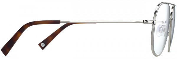 Side View Image of York Eyeglasses Collection, by Warby Parker Brand, in Polished Silver Color