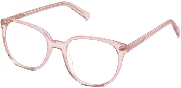 Angle View Image of Eugene Eyeglasses Collection, by Warby Parker Brand, in Rose Crystal Color
