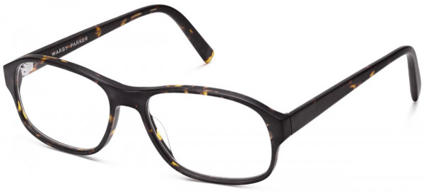 Angle View Image of Bryson Eyeglasses Collection, by Warby Parker Brand, in Whiskey Tortoise Matte Color