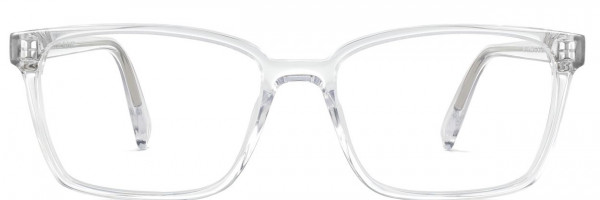 Front View Image of Bryon Eyeglasses Collection, by Warby Parker Brand, in Crystal Color