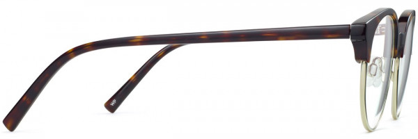 Side View Image of Carey Eyeglasses Collection, by Warby Parker Brand, in Cognac Tortoise with Riesling Color