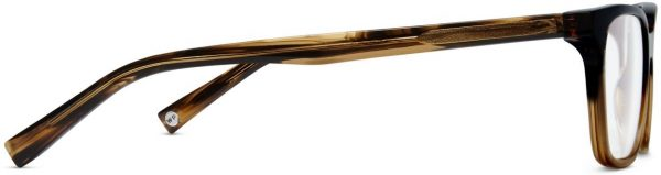 Side View Image of Barnett Eyeglasses Collection, by Warby Parker Brand, in Toffee Fade Color