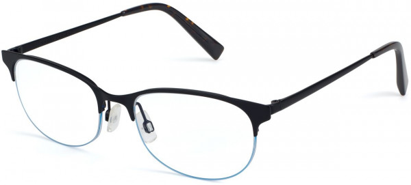 Angle View Image of Clare Eyeglasses Collection, by Warby Parker Brand, in Brushed Ink Color
