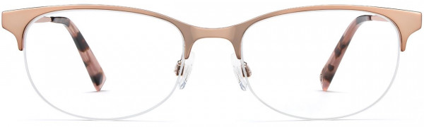 Front View Image of Clare Eyeglasses Collection, by Warby Parker Brand, in Rose Gold Color