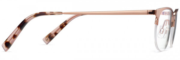 Side View Image of Clare Eyeglasses Collection, by Warby Parker Brand, in Rose Gold Color