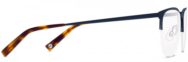 Side View Image of Wallis Eyeglasses Collection, by Warby Parker Brand, in Brushed Navy Color