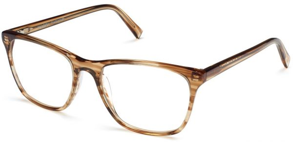 Angle View Image of Yardley Eyeglasses Collection, by Warby Parker Brand, in Chestnut Crystal Color