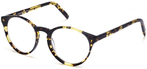 Angle View Image of Briggs Eyeglasses Collection, by Warby Parker Brand, in Mesquite Tortoise Color