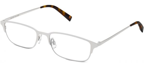 Angle View Image of Graham Eyeglasses Collection, by Warby Parker Brand, in Polished Silver Color