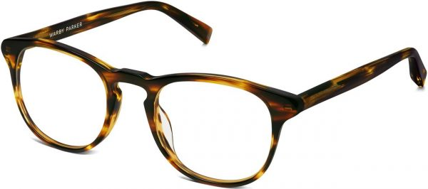 Angle View Image of Baker Eyeglasses Collection, by Warby Parker Brand, in Striped Sassafras Color
