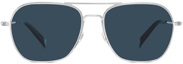 Front View Image of Abe Sunglasses Collection, by Warby Parker Brand, in Polished Silver Color