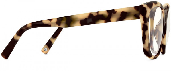 Side View Image of Aubrey Eyeglasses Collection, by Warby Parker Brand, in Marzipan Tortoise Color