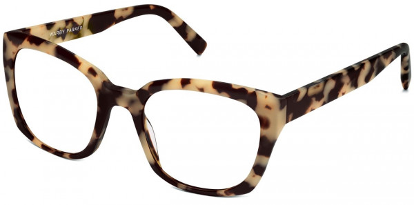 Angle View Image of Aubrey Eyeglasses Collection, by Warby Parker Brand, in Marzipan Tortoise Color