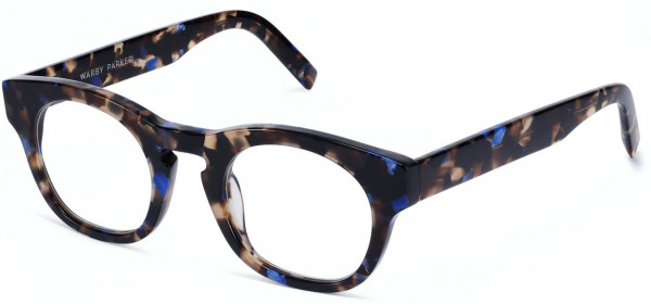 Angle View Image of Kimball Eyeglasses Collection, by Warby Parker Brand, in Tanzanite Tortoise Color