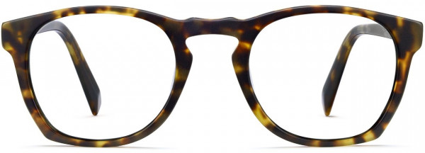 Front View Image of Topper Eyeglasses Collection, by Warby Parker Brand, in Hazelnut Tortoise Matte Color