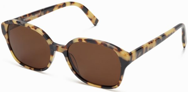 Angle View Image of Lila Sunglasses Collection, by Warby Parker Brand, in Marzipan Tortoise Color