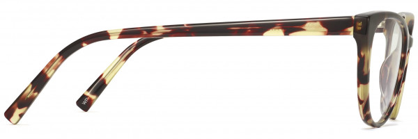 Side View Image of Shea Eyeglasses Collection, by Warby Parker Brand, in Burnt Lemon Tortoise Color