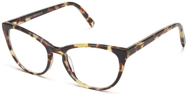 Angle View Image of Shea Eyeglasses Collection, by Warby Parker Brand, in Burnt Lemon Tortoise Color