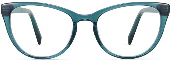 Front View Image of Shea Eyeglasses Collection, by Warby Parker Brand, in Peacock Green Color