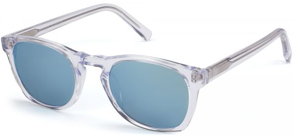 Angle View Image of Topper Sunglasses Collection, by Warby Parker Brand, in Crystal Color