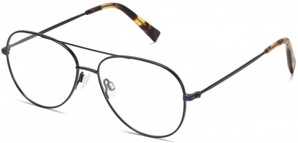 Angle View Image of York Eyeglasses Collection, by Warby Parker Brand, in Brushed Navy Color